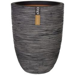 Capi Vas Nature Rib elegant låg 36x47 cm antracit KOFZ782 Grå