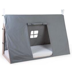 CHILDHOME Sängöverdrag tipi 90x200 cm grå Grå