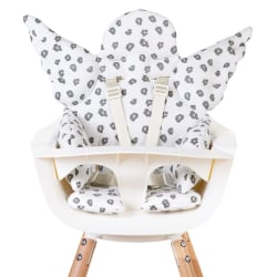 CHILDHOME Universell sittdyna ängel bomull jersey leopard Vit