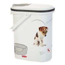 Curver Foderbehållare hund 10 L Vit