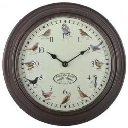 Esschert Design Klocka med fågelkvitter Flerfärgsdesign