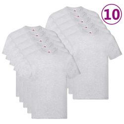 Fruit of the Loom Original T-shirt 10-pack grå stl. XL bomull Grå