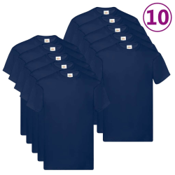 Fruit of the Loom Original t-shirt 10-pack marinblå stl. M bomul Blå