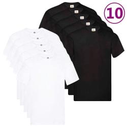 Fruit of the Loom Original T-shirt 10-pack stl. 4XL bomull Vit