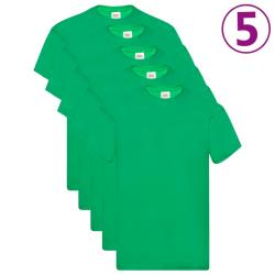 Fruit of the Loom Original t-shirt 5-pack grön stl. L bomull Grön