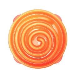 Outward Hound Ät-långsamt matskål för hundar Slo Bowl orange 157 Orange