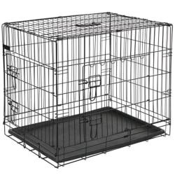 @Pet Hundbur i metall 107x70x77,5 cm svart 15004 Svart