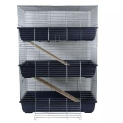 @Pet Kaninbur med 3 våningar blå 80x44x120 cm 25034 Blå