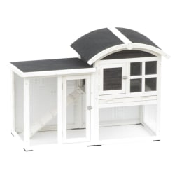 @Pet Kaninbur Piazza vit och svart 130x62x90,5 cm 20085 Flerfärgsdesign