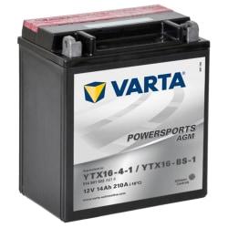 Varta AGM Batteri 12 V 14 Ah YTX16-4-1 / YTX16-BS-1 Gr\u00e5