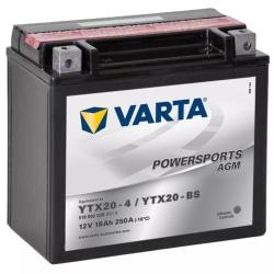 Varta AGM Batteri 12 V 18 Ah YTX20-4 / YTX20-BS