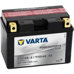 Varta Motorcykelbatteri Powersports AGM TTZ14S/TTZ14-BS Silver