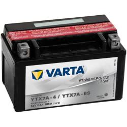 Varta Motorcykelbatteri Powersports AGM YTX7A-4 / YTX7A-BS Silver