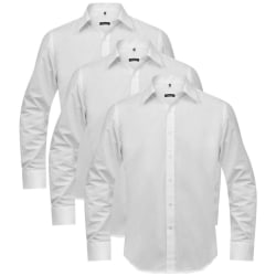 vidaXL 3 Affärsskjortor herrar Storlek S Vit Vit