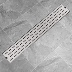 vidaXL Avlång golvbrunn springdesign 730x140 mm rostfritt stål