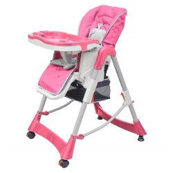 vidaXL Barnstol Deluxe höjdjusterbar rosa Rosa
