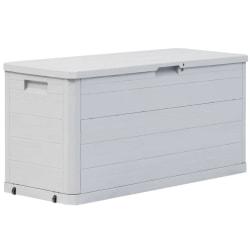 vidaXL Dynbox 280 liter ljusgrå Grå