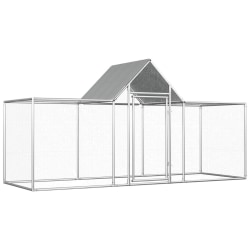 vidaXL Hönsbur 3x1x1,5 m galvaniserat stål Silver