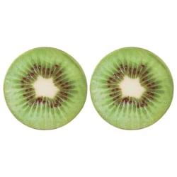 vidaXL Kuddar 2 st tryck frukt kiwi Grön