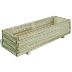 vidaXL Odlingslåda upphöjd 120x40x30 cm trä rektangulär Grön