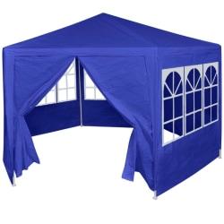 vidaXL Partytält med 6 sidoväggar blå 2x2 m Blå