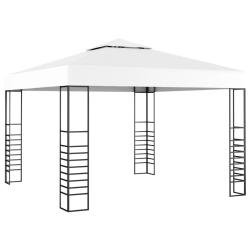 vidaXL Paviljong 3x3 m vit Vit