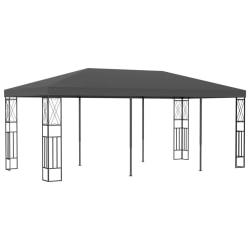 vidaXL Paviljong 3x6 m antracit tyg Antracit