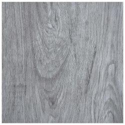 vidaXL Självhäftande golvplankor 5,11 m² PVC ljusgrå Grå