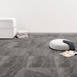 vidaXL Självhäftande PVC-golvplankor 5,11 m² svart med mönster Svart