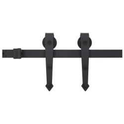 vidaXL Skjutdörrsbeslag 200 cm stål svart Svart