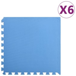 vidaXL Skyddsmatta 6 st 2,16 ㎡ EVA-skum blå Blå