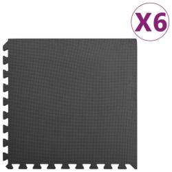 vidaXL Skyddsmatta 6 st 2,16 ㎡ EVA-skum svart Svart