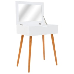 vidaXL Sminkbord med spegel MDF 60x40x75 cm Vit