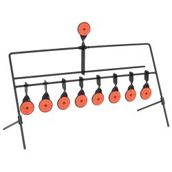 vidaXL Snurrmål med automatisk återställare 8 + 1 måltavlor Svart