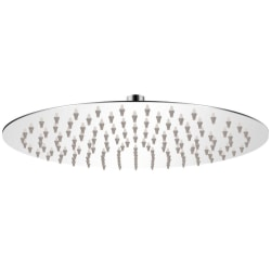 vidaXL Takduschhuvud i rostfritt stål 30 cm rund Silver