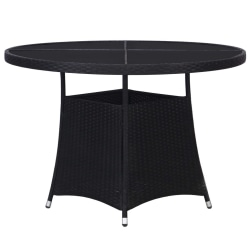 vidaXL Trädgårdsbord 110x74 cm konstrotting svart Svart