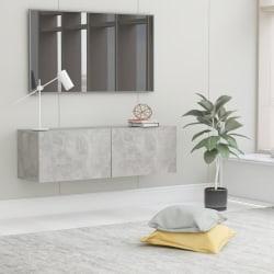 vidaXL TV-bänk betonggrå 100x30x30 cm spånskiva Grå