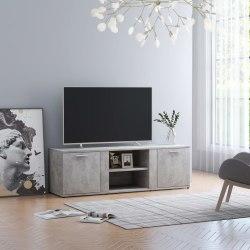 vidaXL TV-bänk betonggrå 120x34x37 cm spånskiva Grå