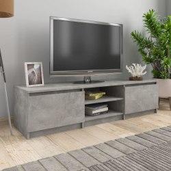 vidaXL TV-bänk betonggrå 140x40x35,5 cm spånskiva Grå