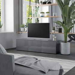 vidaXL TV-bänk grå högglans 120x34x30 cm spånskiva Grå