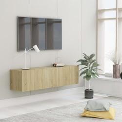 vidaXL TV-bänk sonoma-ek 120x30x30 cm spånskiva Brun