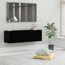 vidaXL TV-bänk svart 100x30x30 cm spånskiva Svart