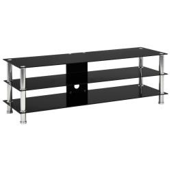vidaXL TV-bänk svart 120x40x40 cm härdat glas Svart