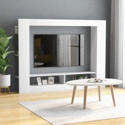 vidaXL TV-bänk vit 152x22x113 cm spånskiva Vit