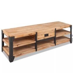 vidaXL TV-möbel massivt akaciaträ 140x40x45 cm Brun
