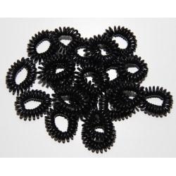 5-pack hårsnodd telefonsladd spiral hair (Svart) XL