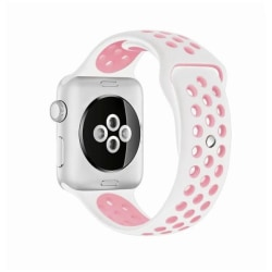 Apple Watch - Sportband - Watchband - 38/40 mm (Vit/Rosa)