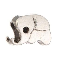 Berlock  Pärla passar till Pandora armband DIY - Elefant