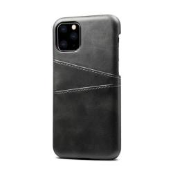 iPhone 11 Pro Slim Cover Wallet -Kortfack-Läder (Svart och Brun) iPhone 11  Pro Svart