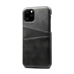 iPhone 11 Slim Cover Wallet - Kortfack - Läder (Svart och Brun) iPhone 11 Svart